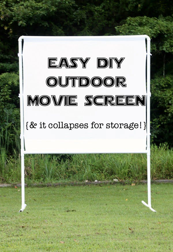 How to make an easy DIY outdoor movie screen