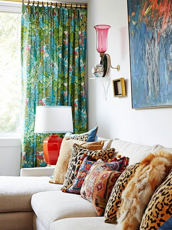 Make Your Own Metallic Curtain Rods