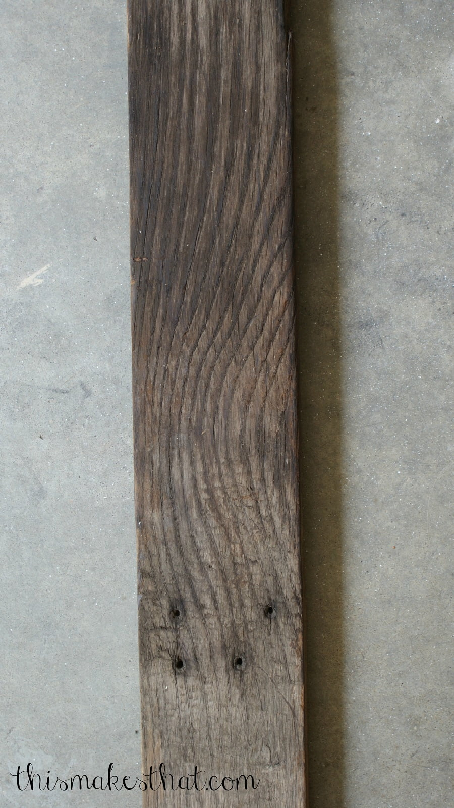 rustic wood board