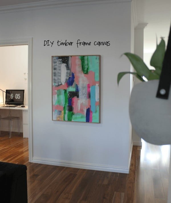 DIY timber frame canvas