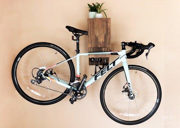 DIY Wall Mounted Bike Rack