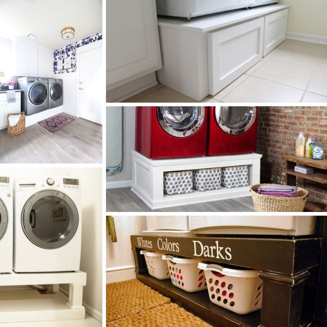 diy washer dryer pedestal ideas