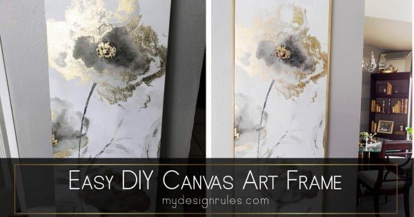 Easy DIY Canvas Frame in an hour