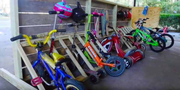 Easy DIY Rack Stores All Your Bikes and Boards