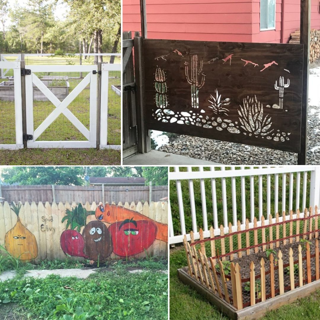 Easy Landscaping Ideas You Can Try: 15 Simple DIY Garden Fence Ideas You Can Build Right Now