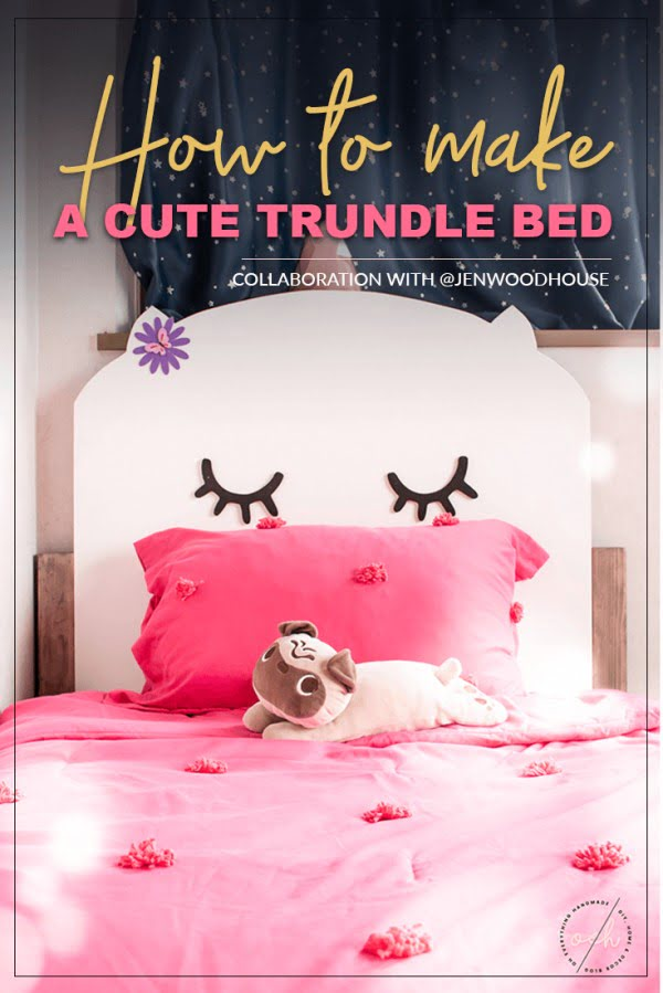 Cute Girl's Trundle Bed