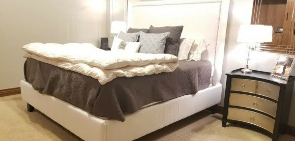 How to Make a Wooden King Size Bed Frame and Nail Trimmed Headboard