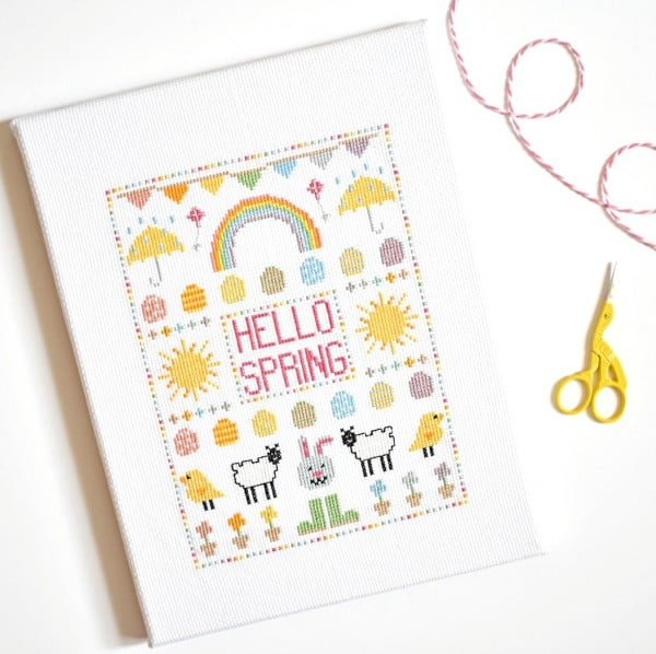 How to Mount Cross Stitch onto a Canvas Frame Tutorial