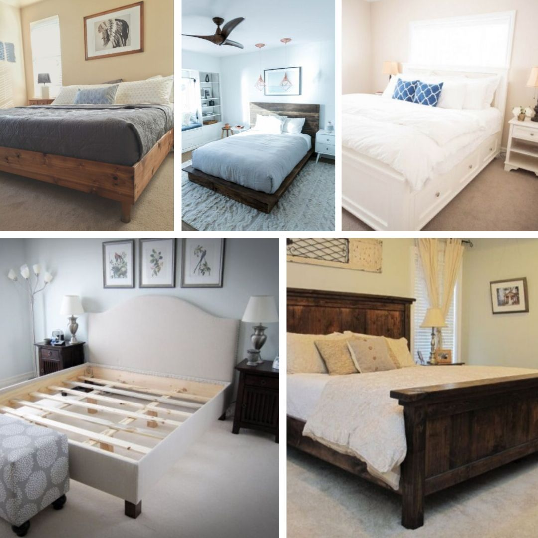 king size bed frames diy