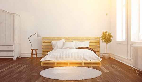 diy pallet bed looks minimalist