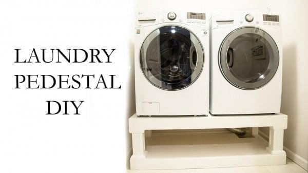 Washer Dryer Laundry Pedestal DIY
