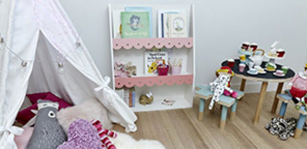 Kids Wooden Bookshelf