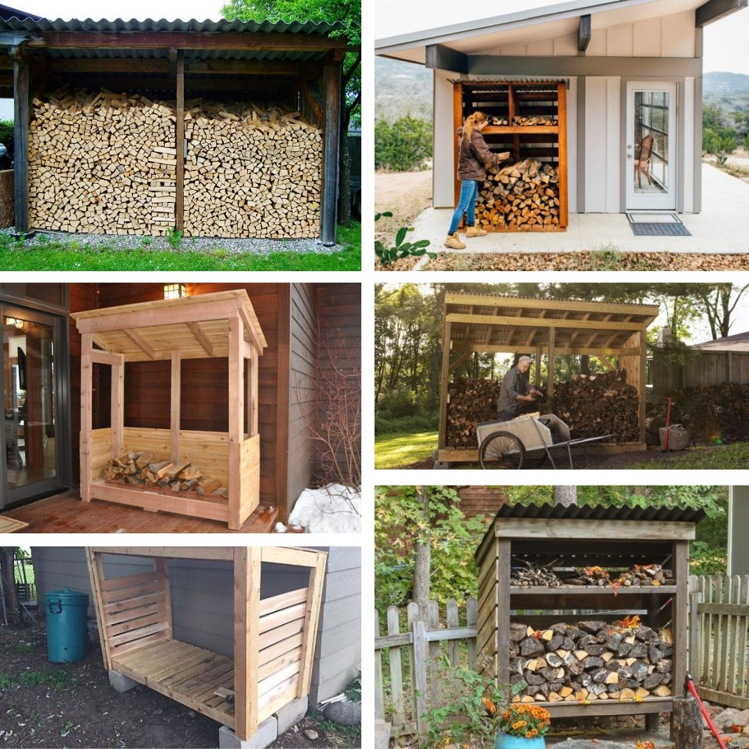 diy firewood shed ideas