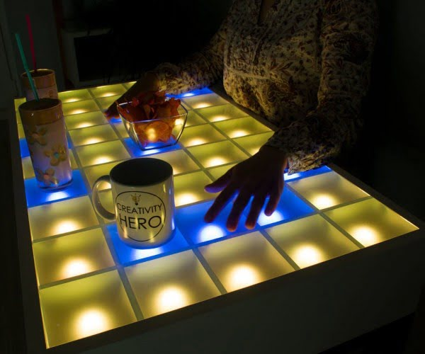 Interactive LED tabletop