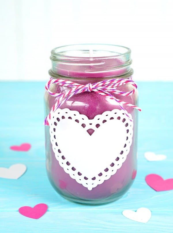 DIY Valentine's Candle