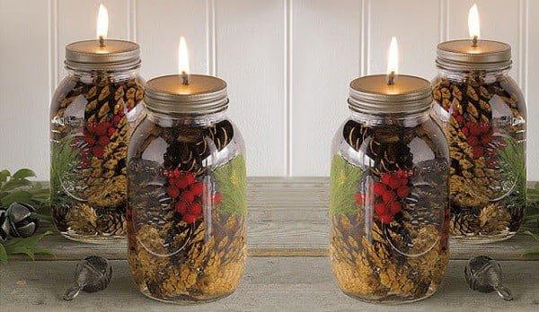 DIY Mason Jar Oil Candles