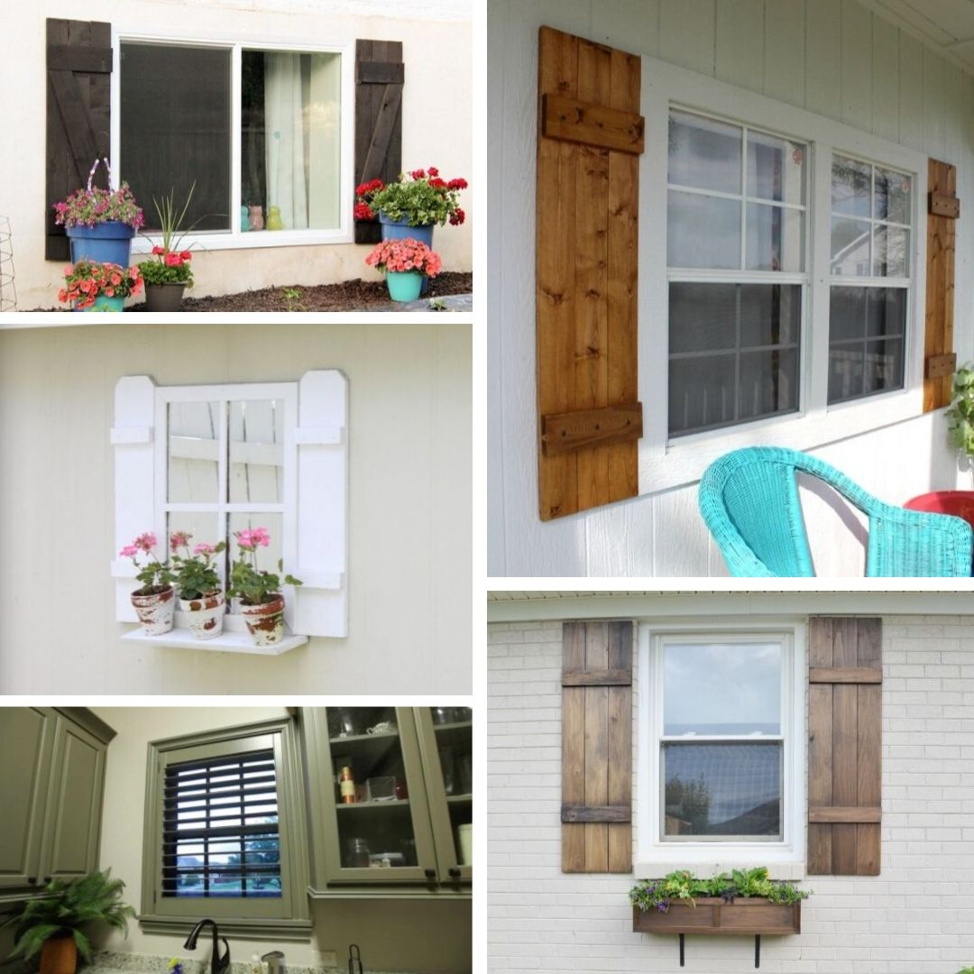15 DIY Wood Shutter Ideas