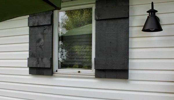 faux shutters