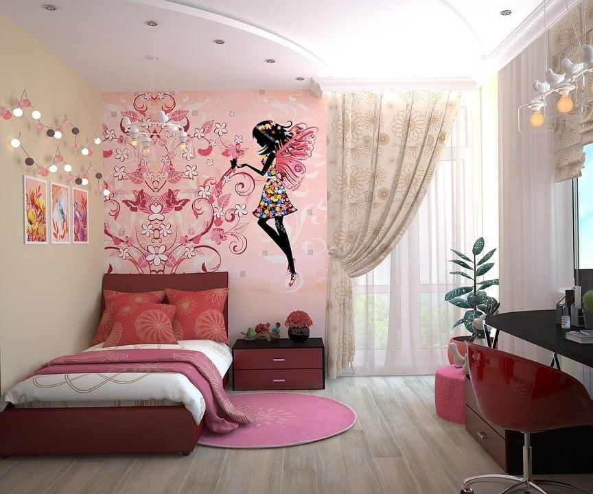 girls bedroom fairy theme