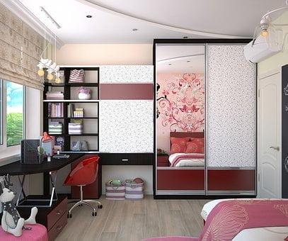 girls bedroom shelving