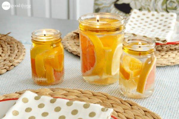 Mason Jar Water Candle