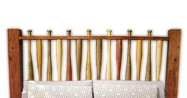 baseball bats headboard
