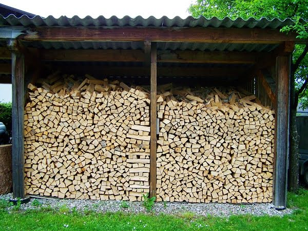 firewood shed columns