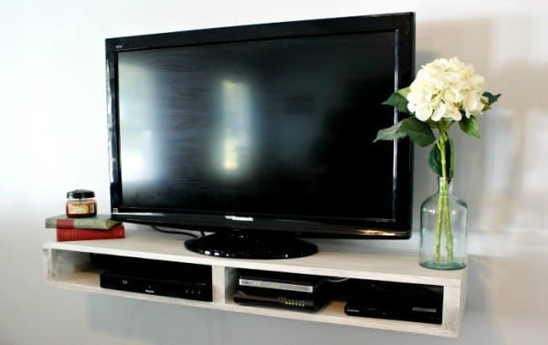 Floating shelf tv stand