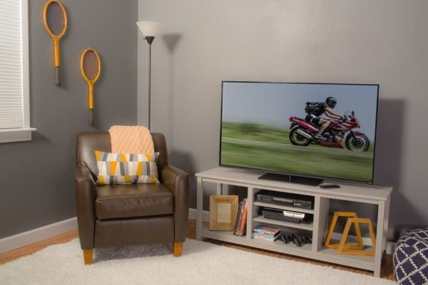 easy diy tv console or tv stand