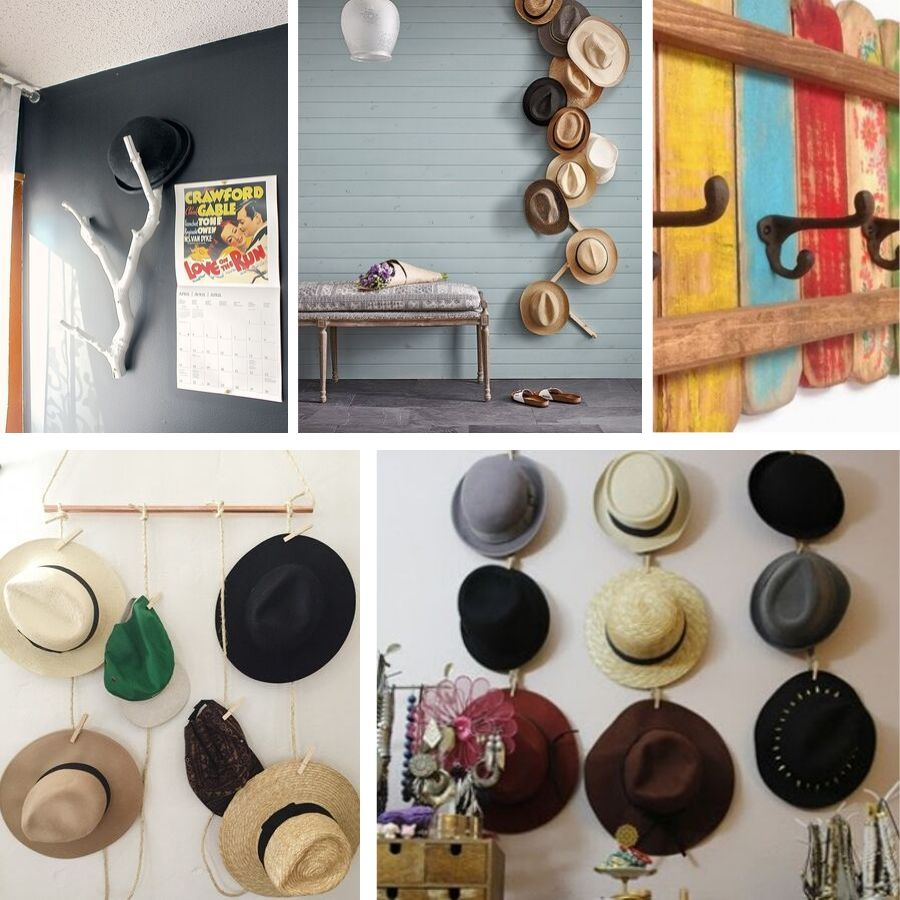 34 Creative Hat Rack Ideas for Complete Space Styling