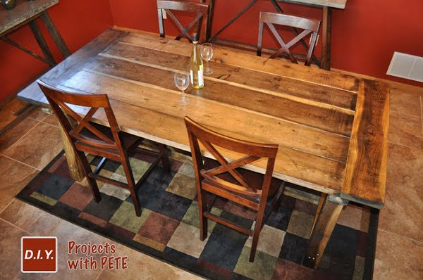rustic kitchen dining table
