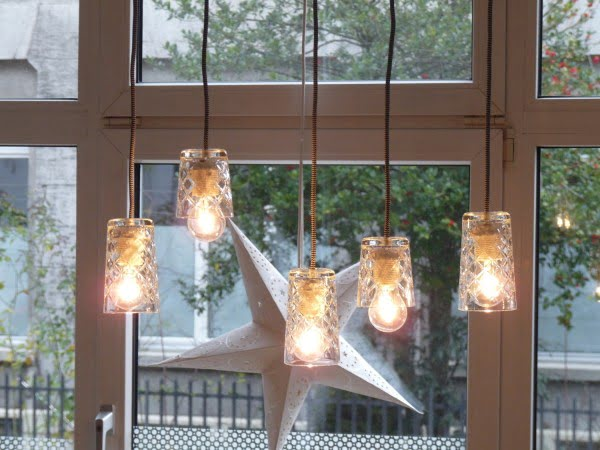 FLIMRA pendant lamp from drinking glasses