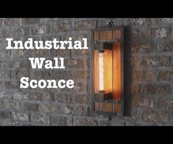 Industrial Style Wall Sconces welding project
