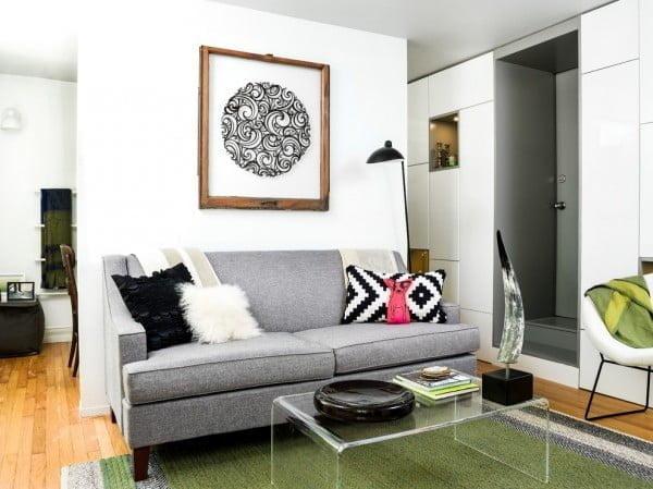 Logan Square Condo Living Room