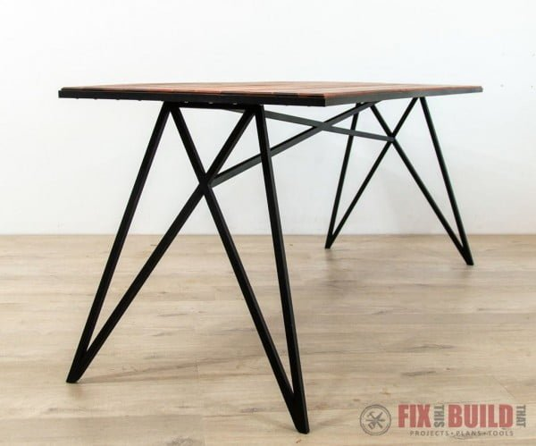 Modern Outdoor Table With Metal Base welding project