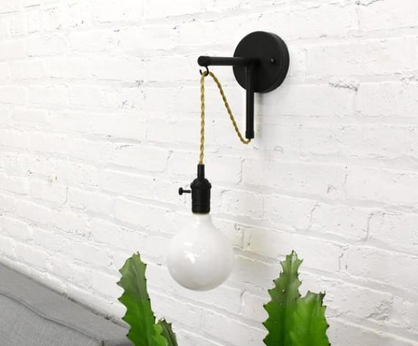 Wall Sconce Custom Industrial Vanity Pipe wall light fixture Bathroom Lighting with switch antique edison bulb or LED white globe
