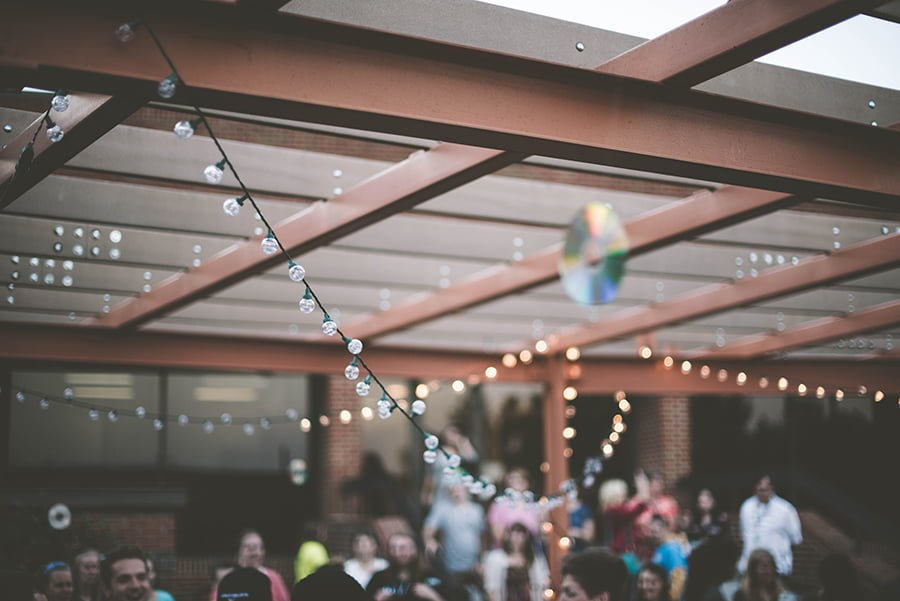 How to Hang String Lights on Covered Patio