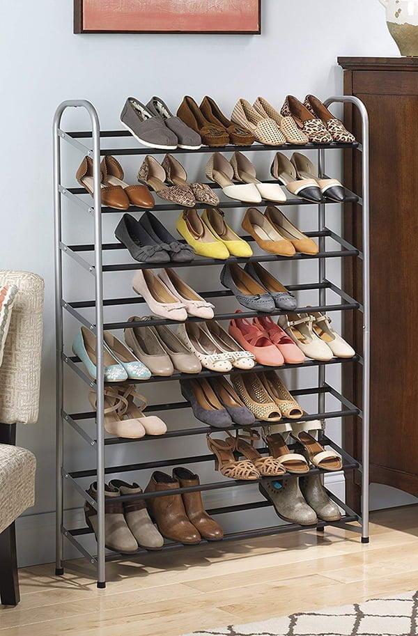 Metal shoe storage