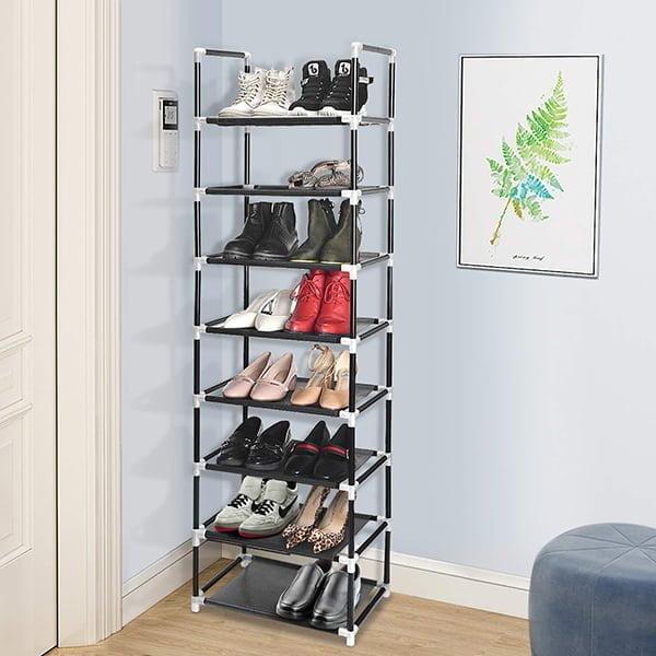 Vertical narrow shoe storage