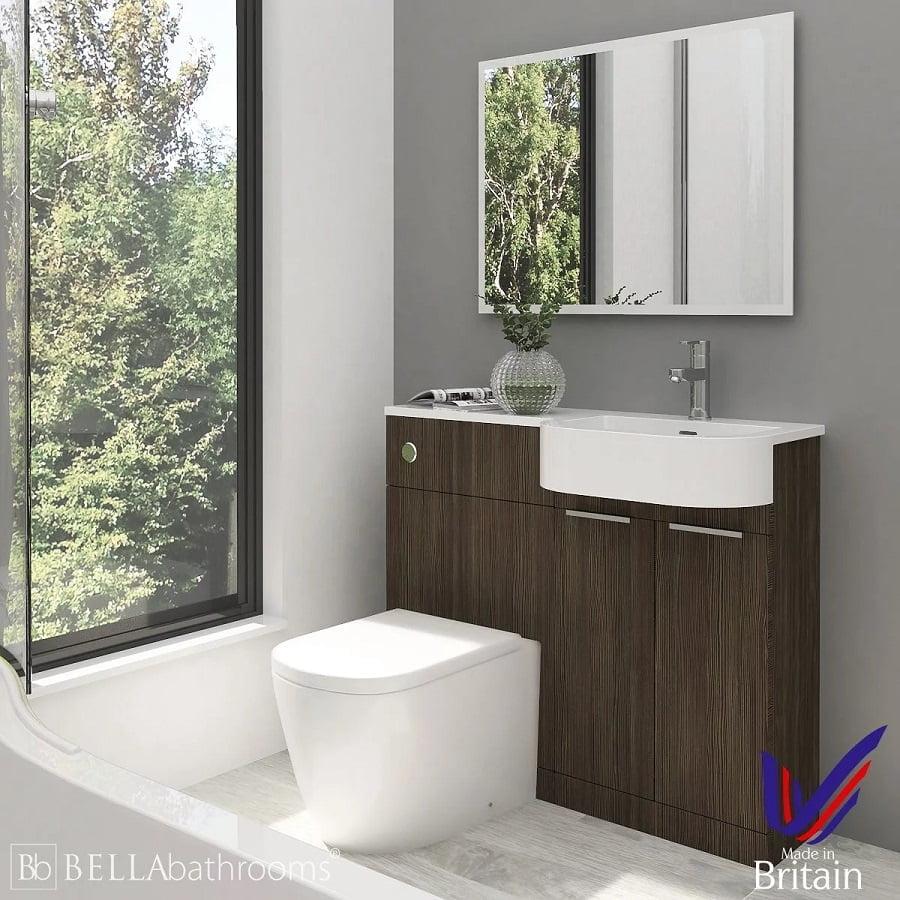 vanity mirror grey wall