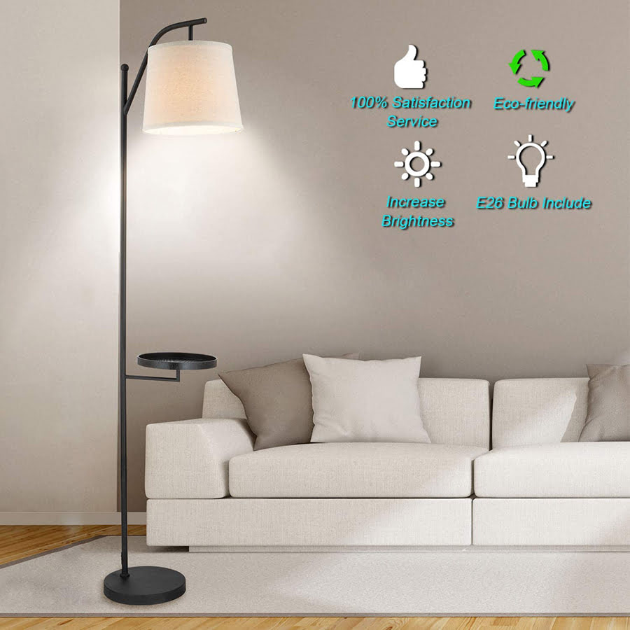 Floor Lamp With Tray