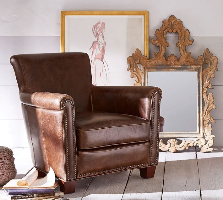 Pottery Barn Leather Chair