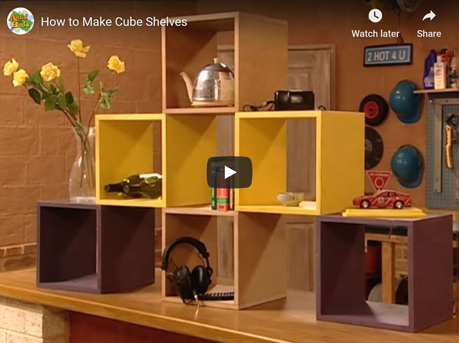 DIY cube shelves tutorial video