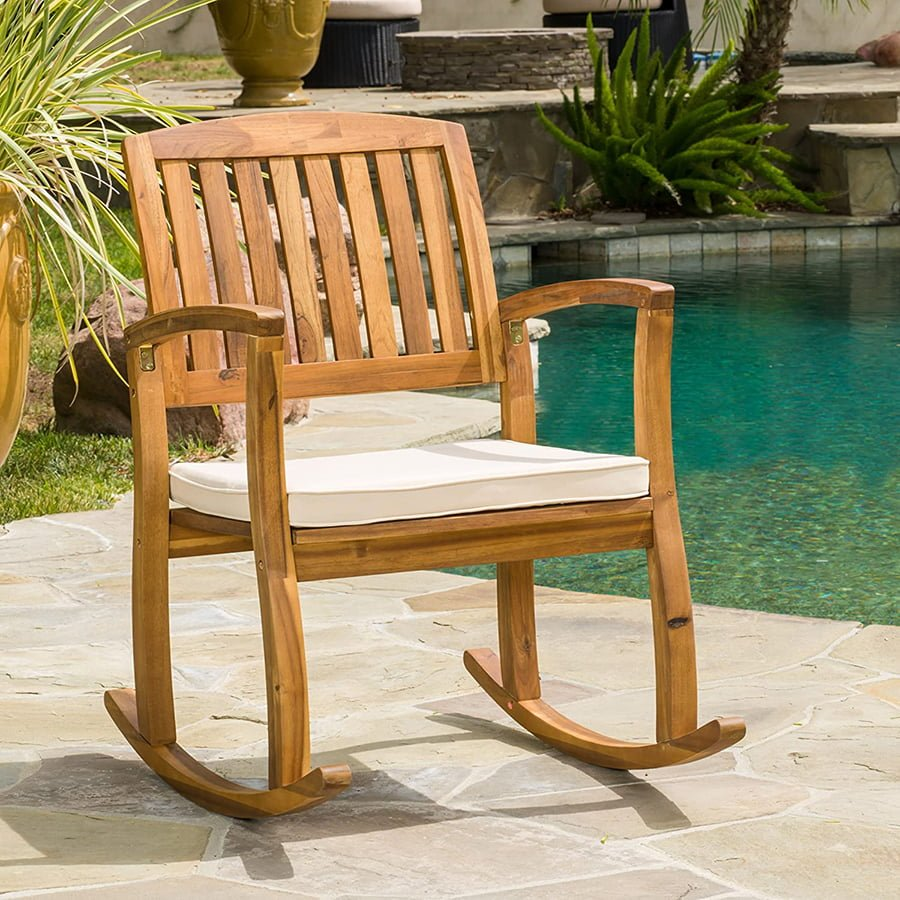 Outdoor Rocking Chair With Cushions