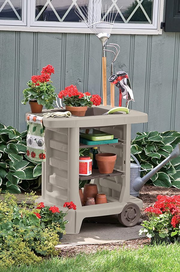 Potting Table With Wheels