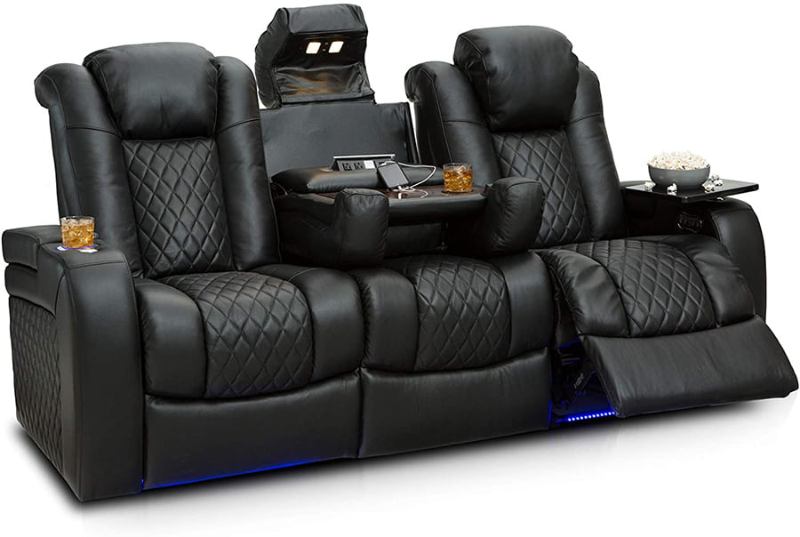 Reclining Sofa With Console