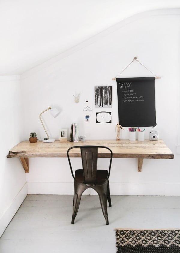 DIY Live Edge Wood Desk