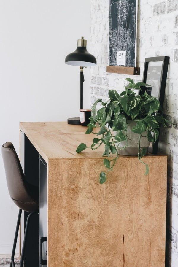 DIY Plywood Desk