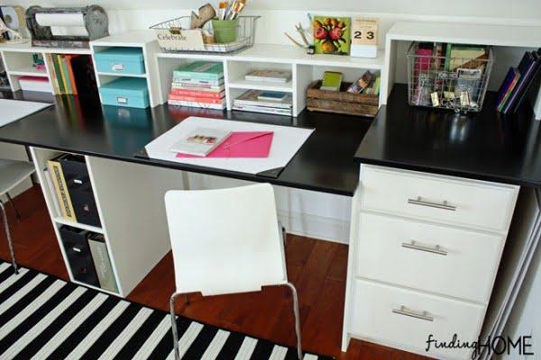 Easy DIY Built In Desk Tutorial