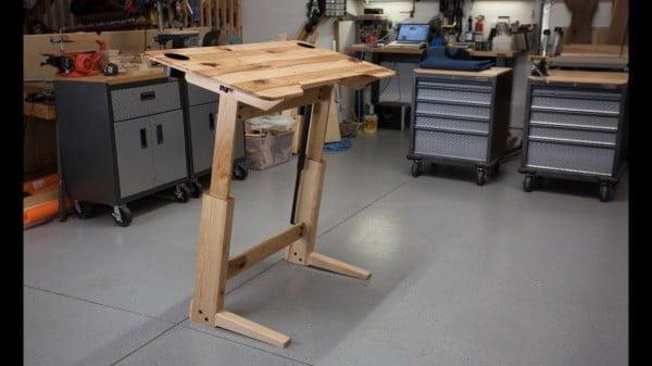 wooden adjustable desk
